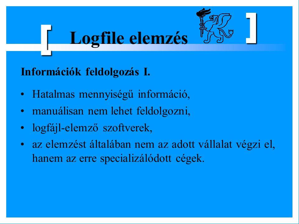 [ Logfile elemzés Információk feldolgozás I.